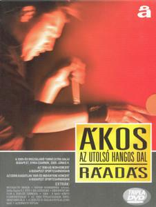 Ákos - Az utolsó hangos dal - Ráadás 3DVD / a 2005-ös országjáró turné extra dalai, az 1998-as IKON-koncert a Budapest Sportcsarnokban,a korábban kiadatlan 1995-ös INDIÁNTÁNC-koncert a Budapest Sportcsarnokban (5998638325358)