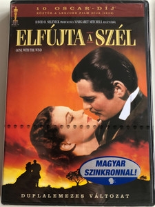 Gone with the Wind DVD 1939 Elfújta a szél / 2 disc edition / duplalemezes változat / Directed by Victor Fleming / Starring: Clark Gable, Vivien Leign, Leslie Howard, Olivia de Havilland (5999048909725)