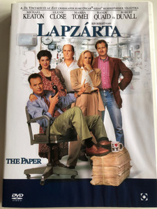The Paper DVD 1994 Lapzárta / Directed by Ron Howard / Starring: Michael Keaton, Glenn Close, Marisa Tomei, Randy Quaid, Robert Duvall (5999544254428)