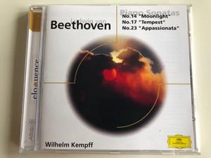 Ludwig van Beethoven – Piano Sonatas N. 14 ''Moonlight'', N. 17 ''Tempest'', N. 23 ''Appassionata'' / Wilhelm Kempff / Eloquence Audio CD 1965 / 469 618-2
