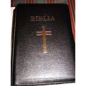 Limited Edition Leather Bible in Romanian / Biblia 087TI / Huge 18.5X27.5 cm ...