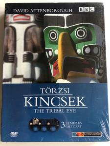 The Tribal Eye 3 DVD 1975 edition Törzsi kincsek / Directed by Michael Macintyre, David Collison / Narrated by David Attenborough / Seven-part BBC documentary (5999544256224)
