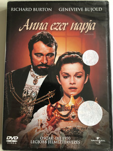 Anne of the Thousand Days DVD 1969 Anna ezer napja / Directed by Charles Jarrott / Starring: Richard Burton, Geneviève Bujold, Anthony Quayle, John Colicos (5996051041213)