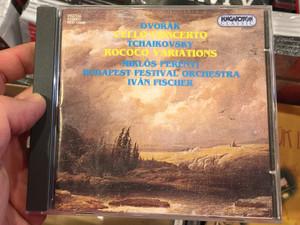 Dvořák - Cello Concerto, Tchaikovsky - Rococo Variations / Miklós Perényi, Budapest Festival Orchestra, Iván Fischer / Hungaroton Classic Audio CD 1994 Stereo / HCD 12868