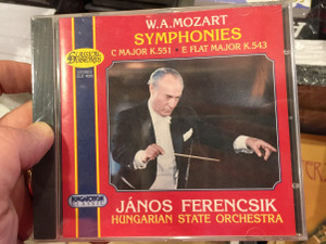 W. A. Mozart - Symphonies, C Major K. 551, E Flat Major K. 543 / Janos Ferencsik, Hungarian State Orchestra / Hungaroton Classic Audio CD 1997 Stereo / CLD 4026
