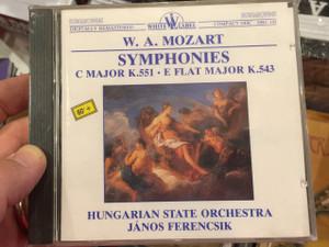 W. A. Mozart - Symphonies, C Major K. 551, E Flat Major K. 543 / Hungarian State Orchestra, Janos Ferencsik / White Label Audio CD 1989 / HRC 143