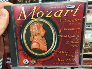Mozart - 3 Sonatas K. Anh. 166 / Transcriptions for String Quartet by J. Andre (1793) / Quartetto Luigi Tomasini on period instruments / Hungaroton Classic Audio CD 2008 Stereo / HCD 32408
