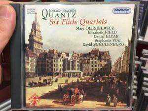 Johann Joachim Quantz - Six Flute Quartets / Mary Oleskiewicz. Elizabeth Field, Daniel Elyar, Stephanie Vial, David Schulenberg / Hungaroton Classic Audio CD 2004 Stereo / HCD 32286