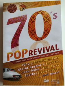 70's Pop revival DVD / Enjoy this Cool music video collection! / 10CC, Boomtown Rats, Gloria Gaynor, Stealers Weel and more! / Cuts 1033 (801735403384)