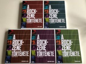 The History of Rock 'n' Roll DVD SET 5 x DVD 1995 / A rockzene története 1-5. lemez / 10 Episode documentary series / Teljes tíz részes sorozat (Rock&RollDVDSET)