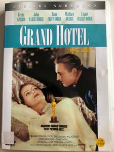 Grand Hotel DVD 1932 / Directed by Edmund Goulding / Starring: Greta Garbo, John Barrymore, Joan Crawford / Black&White classic (8809097755419)