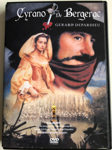 Cyrano de Bergerac DVD 1990 / Directed by Jean-Paul Rappeneau / Starring: Gérard Depardieu, Anne Brochet, Vincent Perez (5999881767292)