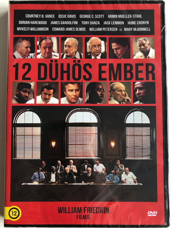 12 Angry men DVD 1997 12 dühös ember / Directed by William Friedkin / Starring: Courtney B. Vance, Ossie Davis, George C. Scott, Armin Mueller-Stahl, Dorian Harewood, James Gandolfini (5999546336856)