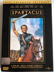 Spartacus DVD 1960 / Directed by Stanley Kubrick / Starring: Kirk Douglas, Laurence Olivier, Jean Simmons, Charles Laughton, Tony Curtis (5996255704884)
