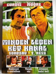 The Persuaders series vol 2. DVD 1971 Minden lében két kanál sorozat 2. rész / Directed by Leslie Norman, Roy Ward Baker, Basil Dearden, Val Guest / Starring: Roger Moore, Tony Curtis, Laurence Naismith / 3 episodes on DVD (5999545581585)
