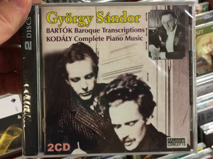 György Sándor / Bartok - Baroque Transcriptions, Kodaly - Complete Piano Music / Musical Concepts 2x Audio CD 2010 / MC 128