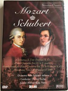 Mozart, Schubert - Clemenza Di Tito Overture K 62, Piano Concerto No. 21 In C Major, Rondo From The Piano Concerto No. 16 In D Major K 451, Schubert: Symphony No. 3 In D Major D. 200 / Cascade Medien DVD 1986 / 80007