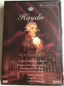 Haydn - Lo Speziale / Comic Opera in 3 Acts / Orchestra Della Svizzera Italiana, Marc Andreae, Antonella Manotti, Carmen Gonzales, Luigi Alva, William Matteuzzi / Silverline Classics / Cascade Medien DVD 2003 / 80020