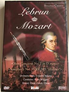 "Lebrun, Mozart – Oboe Concerto No. 1 In D Minor, Symphony No. 35 KV 385 ""Haffner"" / Orchestra Della Svizzera Italiana, Frans Brüggen, Omar Zoboli / Silverline Classics / Cascade Medien DVD 2003 / 80009"