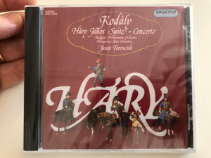 Kodály - Háry János Suite - Concerto / Budapest Philharmonic Orchestra, Hungarian State Orchestra, János Ferencsik / Hungaroton Classic Audio CD 1980 Stereo / HCD 12190