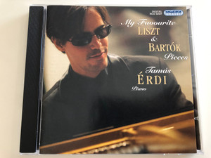 My Favourite Liszt & Bartok Pieces / Tamas Erdi - piano / Hungaroton Classic Audio CD 2006 Stereo / HCD 32437