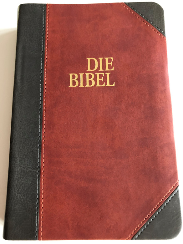 Die Bibel / Schlachter Version 2000 / German Bible with parallel passages and study helps / Leather bound, Golden edges / CLV (9783893970643)
