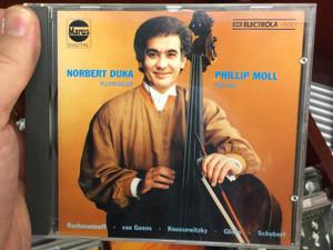 Norbert Duka - contrabass, Phillip Moll - piano / Rachmaninoff, van Goens, Koussewitzky, Gliere, Schubert / Marus Audio CD 1989 Stereo / 909051