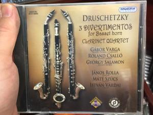 Druschetzky - 3 Divertimentos for Basset horn, Clarinet Quartet / Gabor Varga, Roland Csallo, Gyorgy Salamon - basset horn, Janos Rolla - violin, Mate Szucs - viola, Istvan Vardai - cello / Hungaroton Classic Audio CD 2011 Stereo / HCD 32694