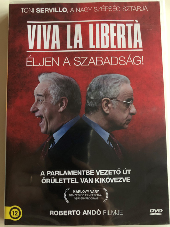 Viva la Libertá DVD 2013 Éljen a szabadság! / Directed by Roberto Andó / Starring: Toni Servillo, Valerio Mastandrea, Valeria Bruni Tedeschi / Long live freedom (5999546336672)