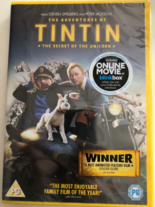 The Adventures of Tintin DVD 2011 The Secret of the Unicorn / Directed by Steven Spielberg / Starring: Jamie Bell, Andy Serkis, Daniel Craig, Nick Frost (5014437165039)