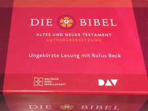 German Audio Bible Pack / 86CDs / Die Bibel - Altes und Neues Testament (Lutherübersetzung) / Read by Rufus Beck - Unabridged / Ungekürzte Lesung mit Rufus Beck / Deutsche Bibel Gesellschaft 2019 / With Apocrypha (Deuterocanonical books) (9783438022271)