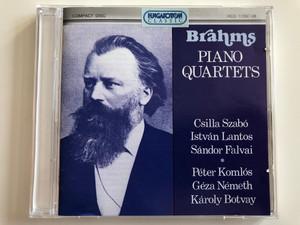 Brahms – Piano Quartets / Csilla Szabó, István Lantos, Sándor Falvai, Péter Komlós, Géza Németh, Károly Botvay / Hungaroton Classic 2x Audio CD 1995 Stereo / HCD 11597-98