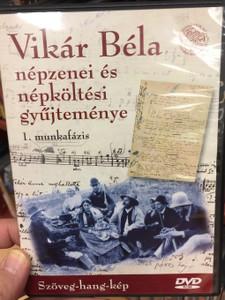 Vikár Béla - népzenei és népköltési gyűjteménye DVD 2009 / Szöveg-hang-kép / 1. munkafázis / Sebő Ferenc / Hungarian folk song collection by Béla Vikár (5999882041490)