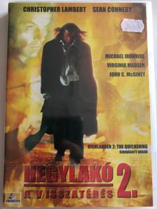 Highlander 2 - The Quickening DVD 1991 Hegylakó 2 - A visszatérés DVD / Directed by Directed by Russell Mulcahy / Starring Christopher Lambert, Sir Sean Connery, Michael Ironside, Virginia Madsen, John C. McGiney (5999545560221)
