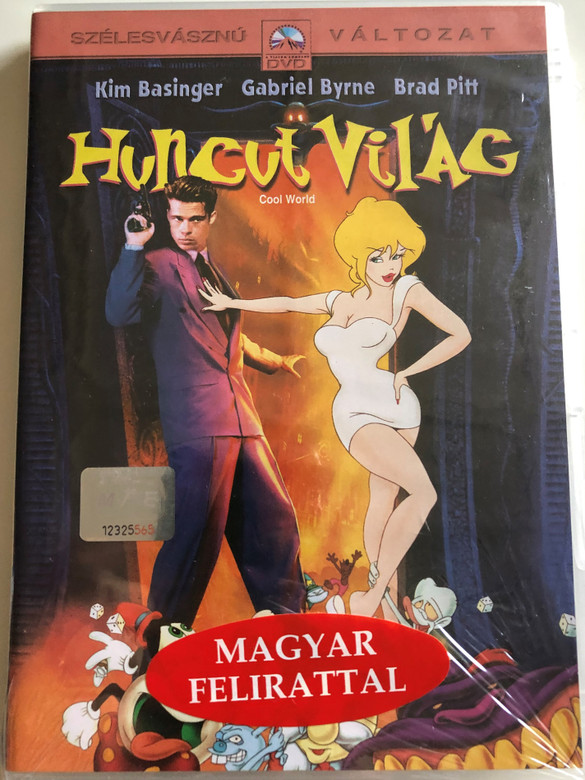 Cool World DVD 1992 Huncut világ / Directed by Ralph Bakshi / Starring: Kim Basinger, Gabriel Byrne, Brad Pitt (5996255715576)