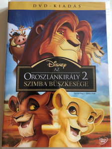 The Lion King 2 - Simba's Pride DVD Oroszlánkirály 2. Szimba Büszkesége / Directed by Darrell Rooney, Rob LaDuca / Starring: Matthew Broderick, Neve Campbell, Andy Dick, Robert Guillaume, James Earl Jones (5996255736434)