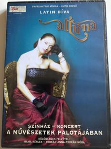 Athina - Latin Díva DVD 2010 / Papadimitriu Athina - Kutik Rezső / Directed by Komlós András / Színház - koncert a művészetek palotájában / Magneoton (5999884690054)