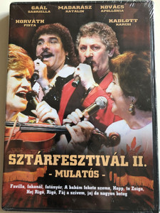 Sztárfesztivál II. Mulatós DVD / Hungarian popular folk music / Gaál Gabriella, Horváth Pista, Kovács Apollónia, Madarász Katalin / Budapest Nemzeti Sportcsarnok / 07266 RNR (5998557172668)