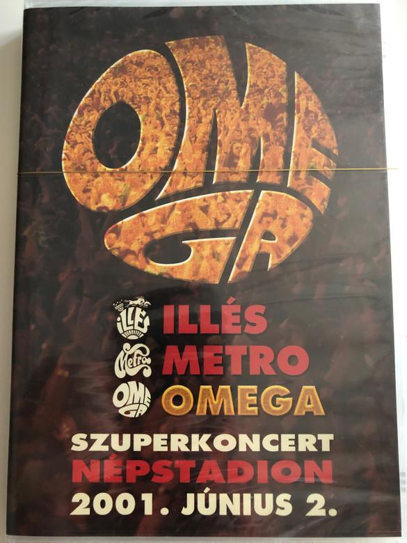 Omega - Szuperkoncert DVD 2001 / Népstadion 2001. Június 2. / Benkő László, Debreczeni Ferenc, Kóbor János, Mihály Tamás, Molnár György, Gömöri Zsolt, Szerekes Tamás, Demeter György, Vértes Attila (5998318764453.)