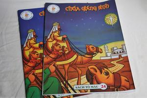 Chúa giáng sinh / Christmas Bible Story / English - Vietnamese Coloring Book / Sách Tô máu 24 / Paperback (2070100020093)