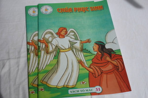 Chúa phục sinh / Christ is Risen / English - Vietnamese Coloring Book for children / Sách Tô máu 31 / Paperback (ChristIsRisen-Viet)