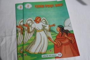 Chúa phục sinh / Christ is Risen / English - Vietnamese Coloring Book for children / Sách Tô máu 31 / Paperback (ChristIsRisen-Viet)