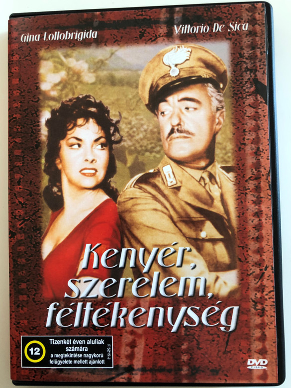 Pane, Amore e Gelosia DVD 1954 Kenyér, szerelem, féltékenység (Bread, Love and Jealousy) / Directed by Luigi Comencini / Starring: Vittorio De Sica, Gina Lollobrigida / Aka Frisky (5996051438600)