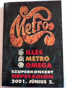 Metro - Szuperkoncert DVD 2001 Népstadion 2001 június 2 / Buona Sera, Édes évek, Mi fáj? Citroízű banán, Kócos ördögök / Mega (5998318764354)