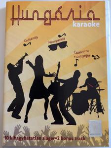 Hungária karaoke DVD / Hungarian rock' n roll band karaoke / 10 kihagyhatatlan sláger és 2 bonus track / 10 unforgettable hits plus 2 bouns tracks / Csókkirály, Neonparádé, Csavard fel a szőnyeget (5999884697145)