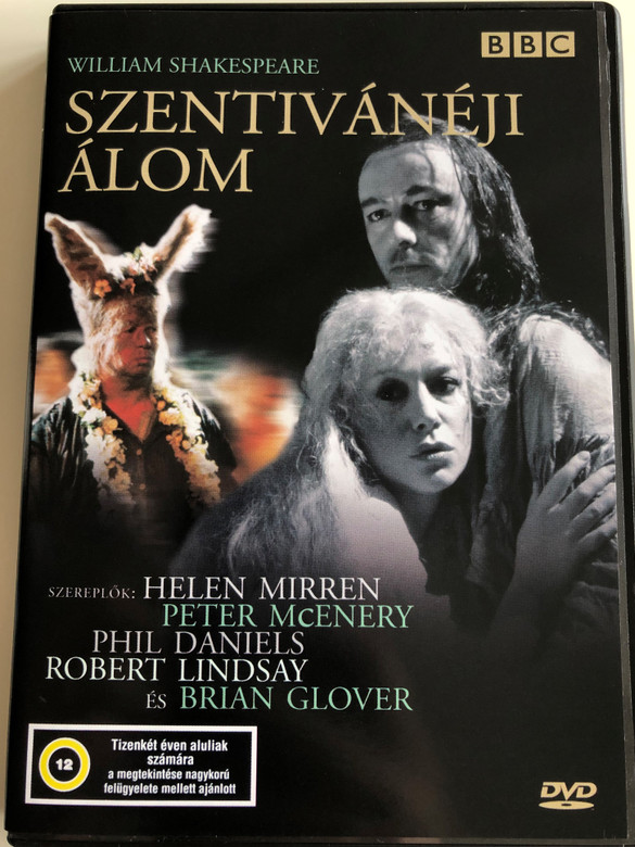 A Midsummer Night's Dream DVD 1981 Szentivánéji álom / BBC / Directed by Elijah Moshinsky / Starring: Helen Mirren, Peter McEnery, Phil Daniels, Robert Lindsay (5996357325536)