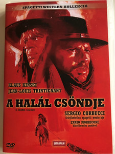 Il Grande Silenzio DVD 1968 A Halál csöndje (The Great Silence) / Directed by Sergio Corbucci / Starring: Jean Louis Trintignant, Klaus Kinski, Frank Wolff / Bonus film: The Good, the bad, and the ugly (5999882817774)