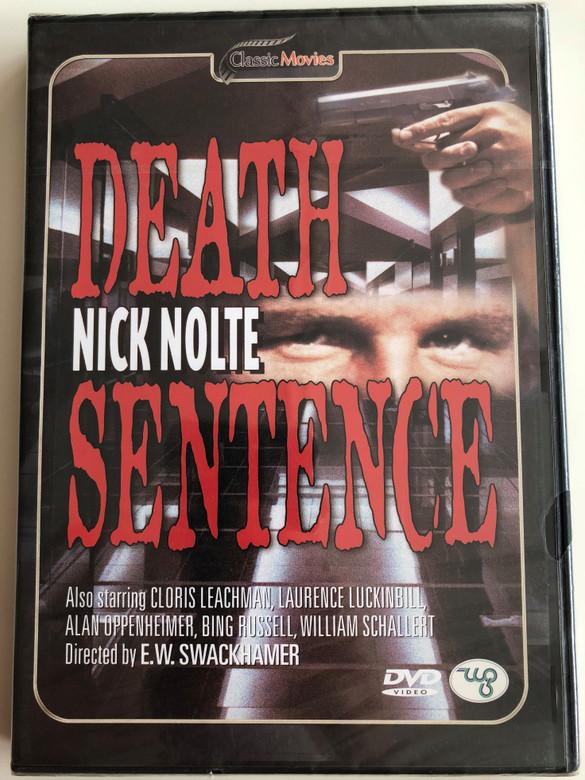 Death Sentence DVD 1974 / Directed by E.W. Swackhamer / Starring Nick Nolte, Cloris Leachman, Laurence Luckinbill (8712155087394)