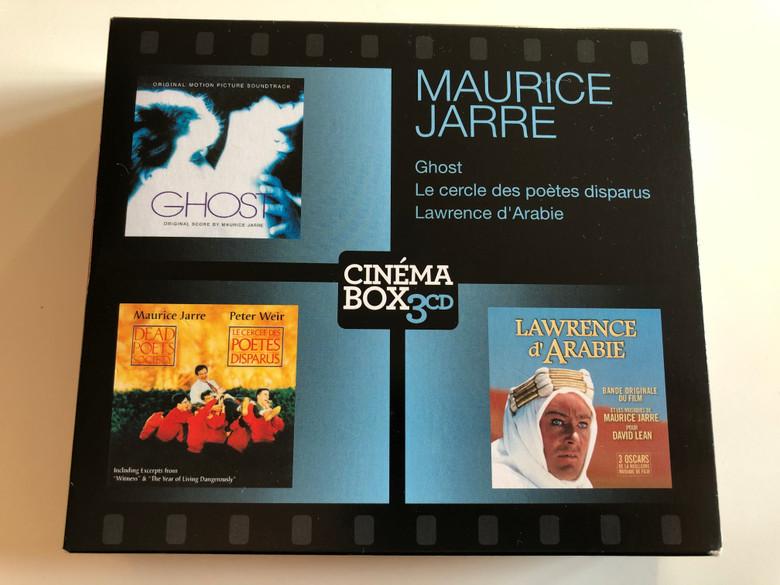 Maurice Jarre - Ghost, Le cercle des poetes disparus, Lawrence d'Arabie / Cinema Box 3x Milan Audio CD 2013 / 3995102
