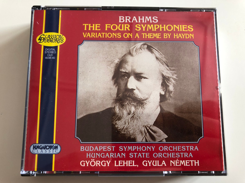 Brahms - The Four Symphonies / Variations On a Theme By Haydn / Budapest Symphony Orchestra, Hungarian State Orchestra / Gyorgy Lehel, Gyula Nemeth / Hungaroton Classic 3x Audio CD 1998 Stereo / CLD 4038-40